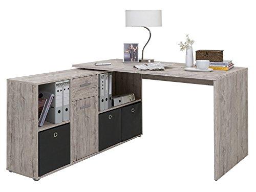 """Preisvergleich Produktbild Eckschreibtisch Büroschreibtsch Arbeitstisch Schreibtisch """"Beppo"""" Sandeiche"""