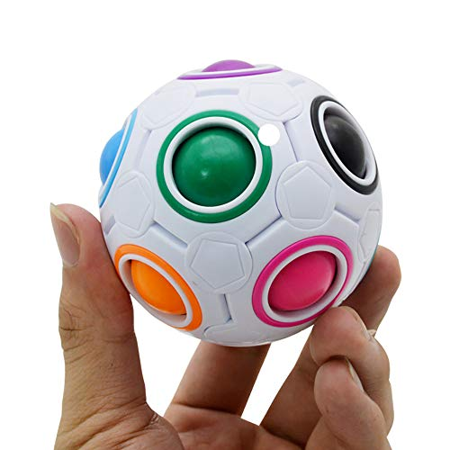 Ndier Rainbow Ball Magic Cube Fidget Toy Puzzle Magic Rainbow Ball Decompression Toy (Colore Casuale) 1 PC
