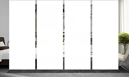 wohnfuehlidee 4er Set Raumteiler Deko blickdicht ROMINA weiß, Höhe 245 cm, 4 x weiß -