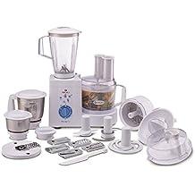 (CERTIFIED REFURBISHED) Bajaj MasterChef 3.0 600-Watt Food Processor With 3 Jars (White)