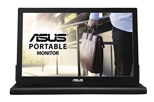 Asus MB169B+ 39,6 cm (15,6 Zoll) tragbarer USB Monitor (Stromversorgung über USB, 14ms Reaktionszeit, Full HD) schwarz/silber Asus 15.6