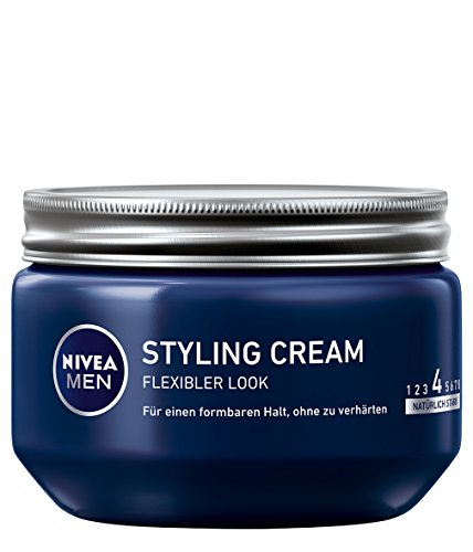 NIVEA Men Haar-Gel, Styling Gel, 150 ml Tiegel, Styling Cream, Natural Look