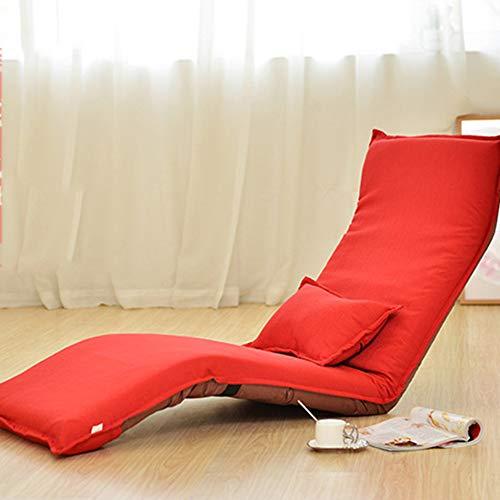 SXFYZCY Boden Stuhl Tragbare Faltbare Chaise Lounge Sofa Stühle Wohnzimmer Schlafzimmer Verstellbares Bett Faule Tatami Mat,A,180x60cm (Chaise Lounge-sofa-bett)