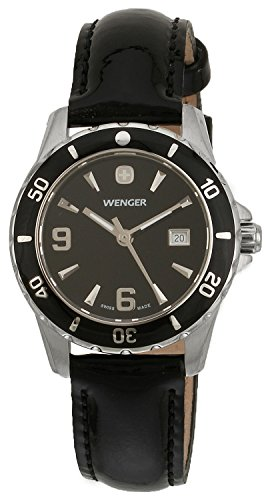 Wenger Ladies Sports Watch 70365 With Elegance Black Dial And Rotating Bezel