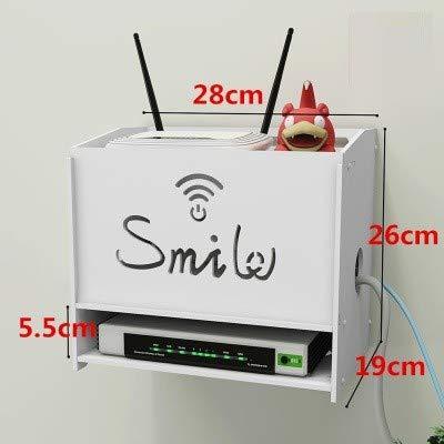 HX home Router Aufbewahrungsbox Wifi Halterung frei Punch Wand hängen Draht Set-Top-Box Rack Wohnzimmer, große dreistöckigen Lächeln