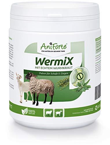 AniForte WermiX Pulver 200g für Schafe, Ziegen und Nutztiere - Natürlicher Wurmfeind, Naturprodukt Bei und Nach Wurmbefall, Ohne Chemie -