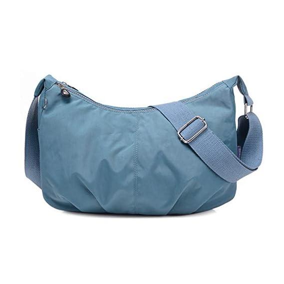 Generic Women Messenger Bags Nylon Hobo Shoulder Bags Handbags Women Famous Brands Designer Crossbody Bags Female Bolsa Sac A Main Color rouge grey