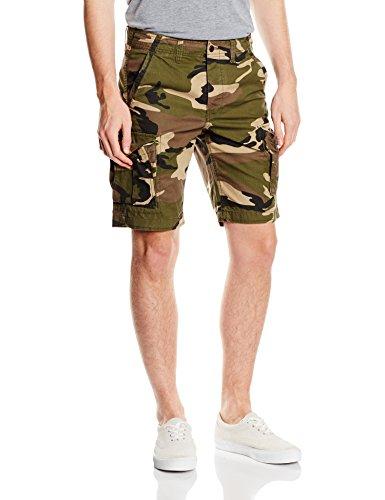 JACK & JONES Herren Shorts, Green Camo, Mehrfarbig (Olive Night), 50 (Herstellergröße: M)