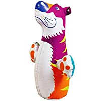 Gamloious 3D Bop Bag Pink Tiger - Inflatable Blow Up Punching Bag Toy,Gift,