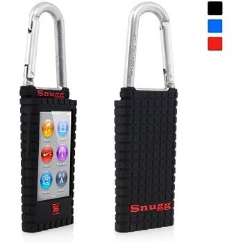 iPod Nano 7th (Schwarz), Snugg - Karabiner Case aus Silikon mit lebenslanger Garantie