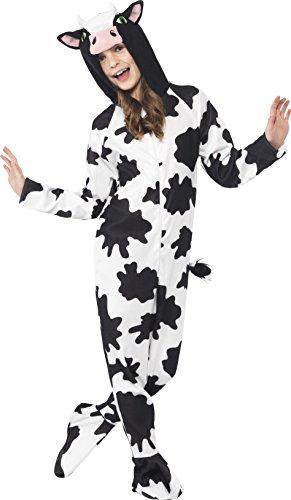 x Kuh Kostüm, All-in-One mit Kapuze, Größe: L, 27993 (80's Dress Up Kostüme)