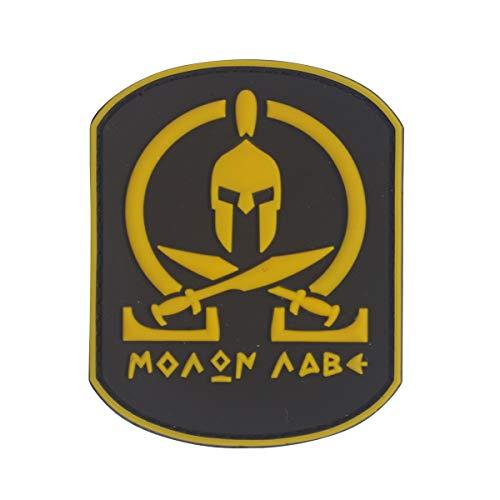 Cobra Tactical Solutions Military PVC Patch Molon Labe Gelb mit Klettverschluss für Airsoft/Paintball für Taktische Kleidung/Rucksack