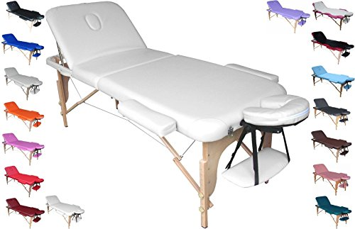 Profi-Liege tragbar und faltbar für Massagen, Physiotherapie, Haarentfernung, Maniküre und Pediküre