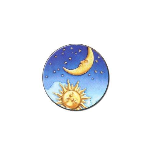 Celestial Sonne Mond Sterne Metall Revers Hat Shirt Tasche Geldbörse Pin Badge Krawattennadel Pinback