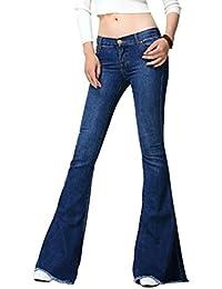 37e3508510e1 Mena UK- Damen Jeans Schlaghosen mit Stretch 60er 70er Stil mit Retro Größe  Boot Cut