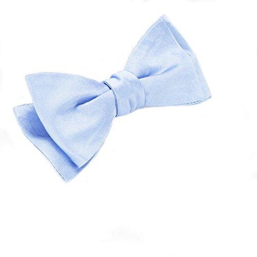 Self-Tie Plain Light Blue Silk Bow Tie Blue Silk Bow Tie