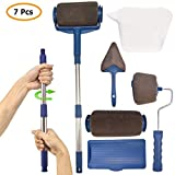 Roller Pinsel Set,7 Stücke MSDADA Farbroller Painting Handle Tool Set Pro-transform Ihr Zuhause Einfach DIY, Multifunktions Flachpinsel Set