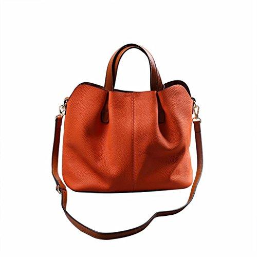 Reasoncool borsa a tracolla della borsa del cuoio piega moda borsa Mobile Messenger (arancia)