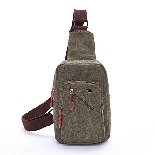 bureze para hombre Crossbody Bolsa Pecho Pack lienzo portátil bolsa de viaje