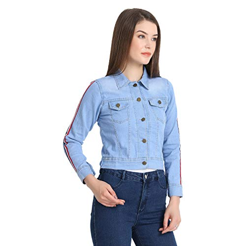 Rohan Fashion Hub Full Sleeves Comfort Fit Regular Collar Denim Jacket for Women/Girls