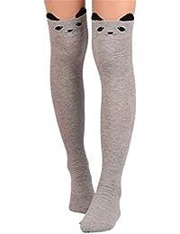 Femmes Longues Chaussettes, Reaso Cato sur les Chaussettes Coton sur le Genou Haute Chaussette