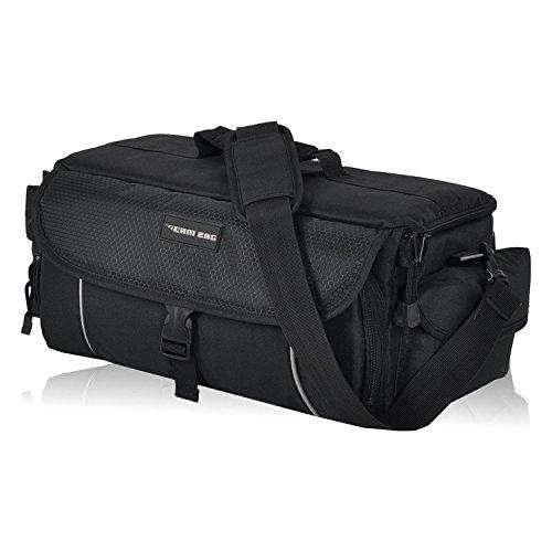 Kameratasche CAMBAG Fototasche Video D-SLR Kamera mit Wechselobjektive und Zubehör, Grösse M - XL Schwarz AUSWAHL (Cambridge - XL)