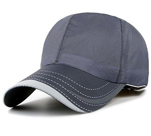 Chapeau Mode Sports De Plein Air Casquette De Baseball Mâle Séchage Rapide Printemps Et En été Perméable à L'air Mme Chapeau De Soleil Grey