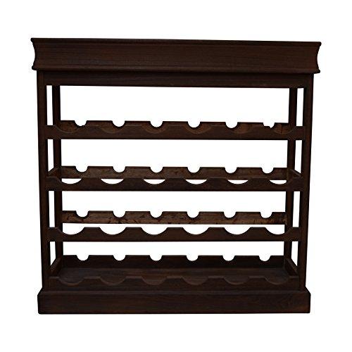 Rebecca Srl Kabinett Stück Weinkeller Weinflaschenhalter 24 Räume dunkel Holz Shabby Vintage (Code RE4225)