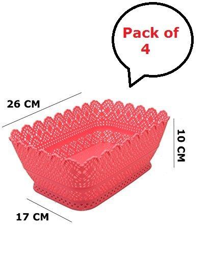 Multipurpose Basket | Plastic Basket | 4 Set Multipurpose Plastic...