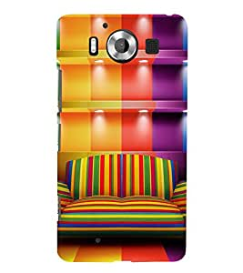 ROYAL LIVING ROOM SEATING ARRANGEMENT 3D Hard Polycarbonate Designer Back Case Cover for Nokia Lumia 950 :: Microsoft Lumia 950