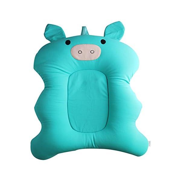 Starmood Baby Bath Tub Pillow Pad Air Cushion Mat Floating Soft Seat for Infant Newborn 3