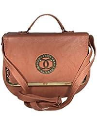 Bizarre Vogue Stylish Partywear Sling Bags Cum Handbags For Women & Girls (Adjustable Strap, Peach)