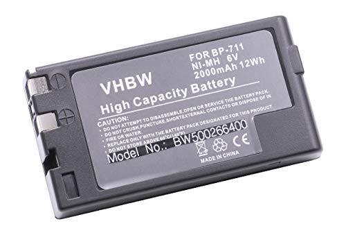vhbw NiMH Akku 2000mAh (6V) für Videokamera Camcorder Canon ES-1000, ES-10V, ES-200, ES-2000, ES-20V, ES-270, ES-290 wie BP-711, BP-714, BP-718. Bp-711 Camcorder