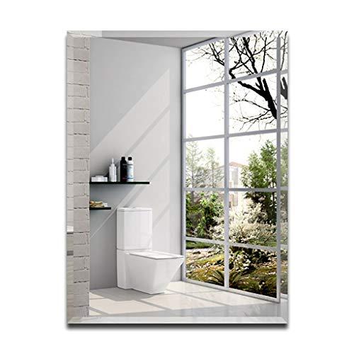 Rechteckiger stromlinienförmiger Wandspiegel, Schlafzimmer oder Badezimmer hängt horizontal vertikal, an der Wand befestigter Spiegel, Badezimmerwandspiegel -