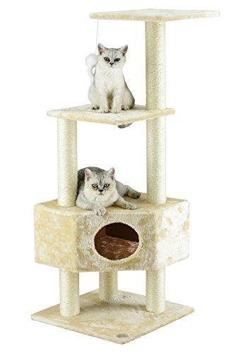 Go Pet Club Kratzbaum für Katzen, beige -