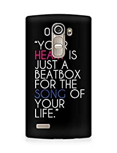 Amez designer printed 3d premium high quality back case cover for LG G4 (Positive Quotes)
