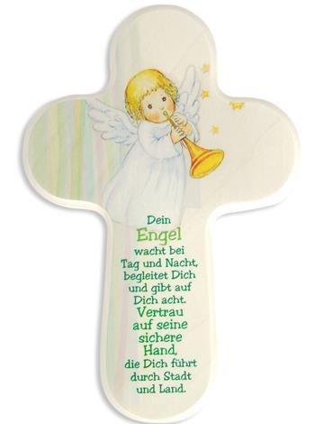 Croix Enfant Ange avec trompette votre ange de...