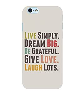 Takkloo live simply dream big be grateful give love laugh lots love quote,motivational quote, inspirational quotes, white background) Printed Designer Back Case Cover for Apple iPhone 6 Plus :: Apple iPhone 6+