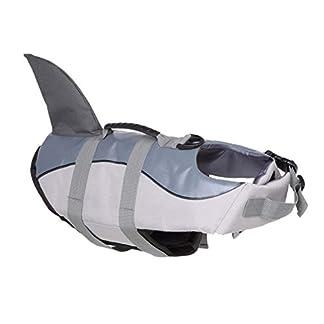 Dog Life Jacket Pet Floatation Vest, Dogs Swimming Vest, Mermaid/Shark Design Pet Life Saver Safety Swimsuit Preserver for Pool, Beach, Boating 41xV1hv2GEL