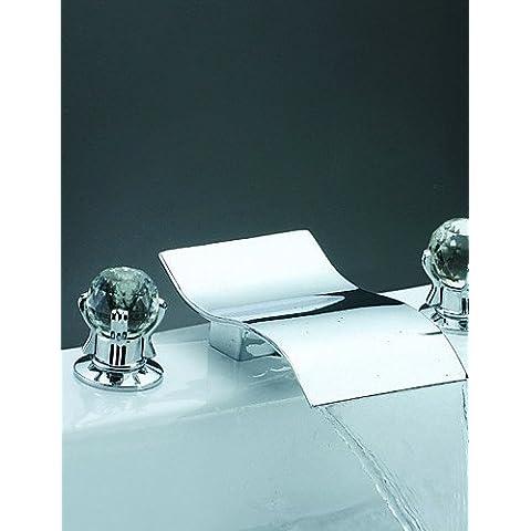 LQK-distanza - due maniglie cromate diffuso rubinetto vasca a cascata (0698-Y3-8015)