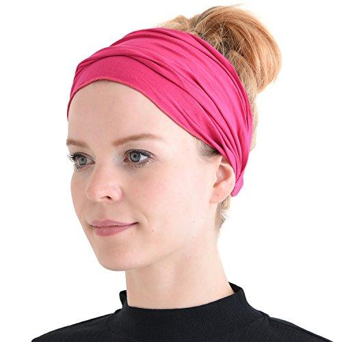Casualbox Herren Kopf Abdeckung Band Bandana Stretch Haar Stil Japanisch Rosa