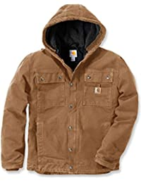 Carhartt - Chaqueta de invierno resistente con capucha, BW Canvas 102285