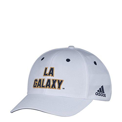 adidas MLS Los Angeles Galaxy Herren Mütze weiß Wordmark strukturiert verstellbar, eine Größe, weiß -