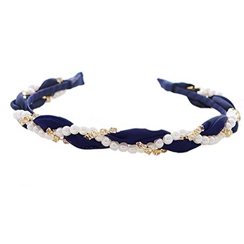 Lot de 2 Style élégant cheveux bande bandeau serre-tête Bandeaux, bleu marine