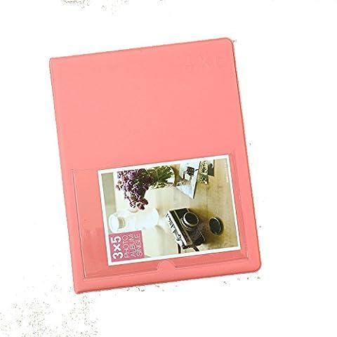 [Fujifilm Instax Photo Album] Woodmin 80 Pockets Mini Album de photos Polaroid pour photos de 6 pouces par Fujifilm Instax Mini, Snap, Zip, Z2300, Postale Carte 4X6(Rouge)