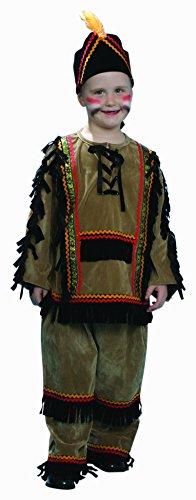 dress up America Deluxe indischen Kostüm-Set mit Shirt/Hose und Kopfbedeckung (S) (Indische Kopfbedeckung Kostüm)