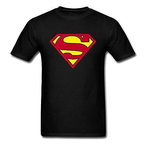 DC Men's Superman Logo Crew Neck Short Sleeve T-Shirt