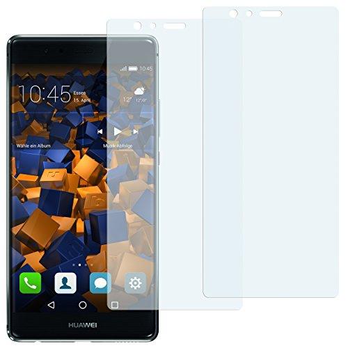 mumbi Schutzfolie kompatibel mit Huawei P9 Folie klar, Displayschutzfolie (2x)
