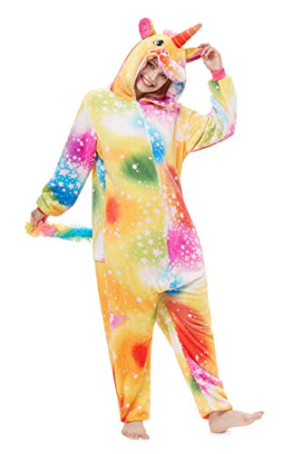 Pyjamas Herren Bekleidung Animal Erwachsene Unisex Schlafanzüge Karneval Onesies Cosplay Jumpsuits Anime Carnival Spielanzug Kostüme Weihnachten Halloween Nachtwäsche Farbe Stern Einhorn Pegasus (Pegasus Halloween Kostüm)