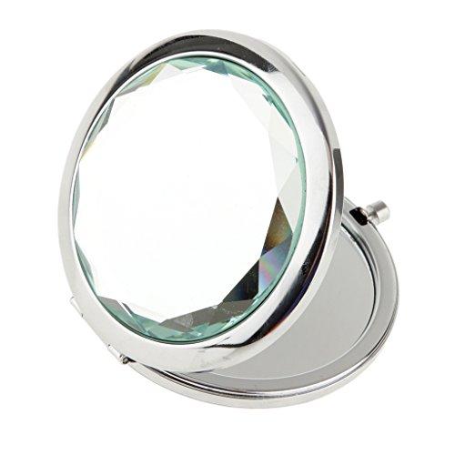 Miroir de Poche Pliable Cosmétique Rond Loupe Maquillage Voyage - Clair